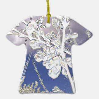 cereza anti-atractiva adorno de cerámica en forma de camiseta