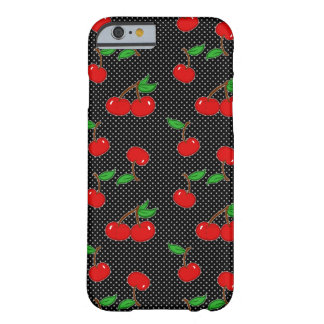Cereza muy manchada en negro funda barely there iPhone 6