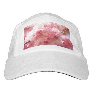 Cereza rosada floral gorra de alto rendimiento