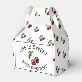 Cerezas retras caramelo del estilo o caja de la