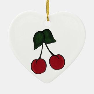 Cerezas rojas lindas ornato