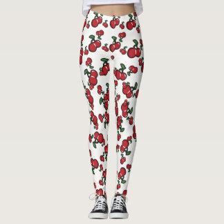 Cerezas rojas y (cualquier color) fruta linda leggings