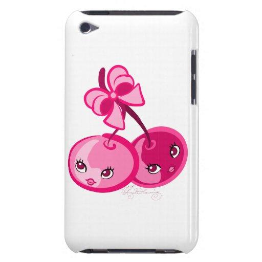 Cerezas rosadas lindas, femeninas Case-Mate iPod touch funda