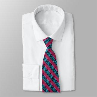 Cerise fresco y lazo azul del arte gráfico corbata