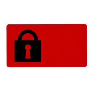 Cerradura. Icono secretísimo o confidencial Etiquetas De Envío