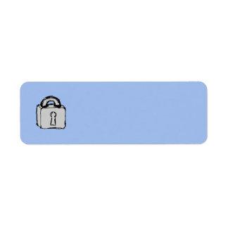 Cerradura. Icono secretísimo o confidencial Etiquetas De Remite