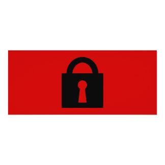 Cerradura. Icono secretísimo o confidencial Invitación Personalizada