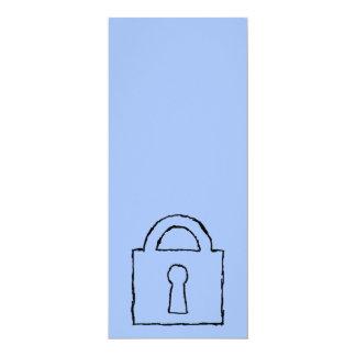 Cerradura. Icono secretísimo o confidencial Invitación 10,1 X 23,5 Cm