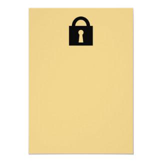 Cerradura. Icono secretísimo o confidencial Invitación 12,7 X 17,8 Cm