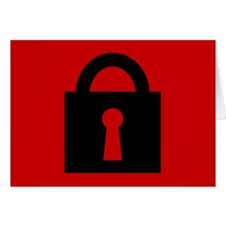 Cerradura Icono secretísimo o confidencial Felicitacion