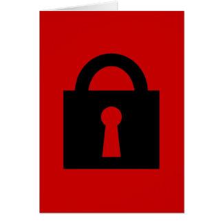 Cerradura. Icono secretísimo o confidencial Tarjeta Pequeña