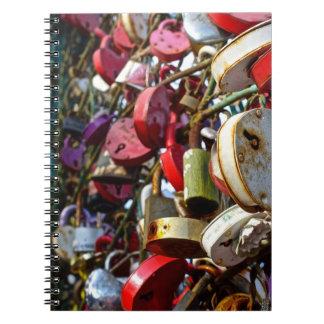 Cerraduras del amor, cuaderno