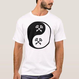 Cerraduras y llaves de Yin Yang Camiseta