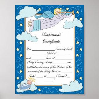 Certificado bautismal poster