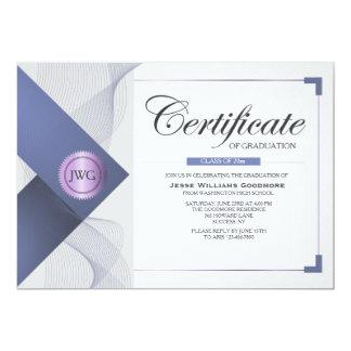 Certificado de invitación de la graduación