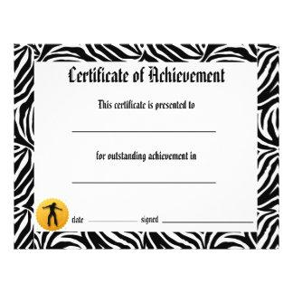 Certificado de la danza de logro - jazz de la tarjetas informativas
