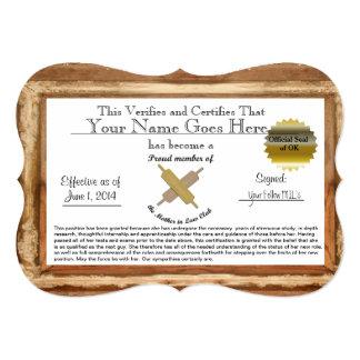 Certificado de la suegra - humor invitación 12,7 x 17,8 cm