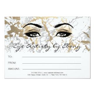 Certificado de mármol blanco Ebony2 de la belleza Invitación 11,4 X 15,8 Cm