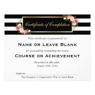 Certificado del curso del salón de belleza de folleto 21,6 x 28 cm