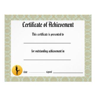 Certificado del decreto de la danza de logro - folleto 21,6 x 28 cm