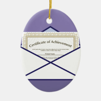 Certificado en vector del sobre adorno navideño ovalado de cerámica
