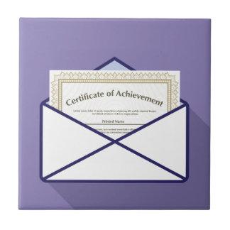 Certificado en vector del sobre azulejo cuadrado pequeño
