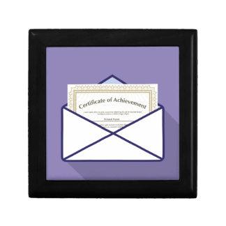 Certificado en vector del sobre caja de regalo