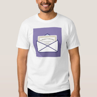 Certificado en vector del sobre camisetas