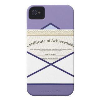Certificado en vector del sobre carcasa para iPhone 4