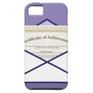 Certificado en vector del sobre funda para iPhone SE/5/5s