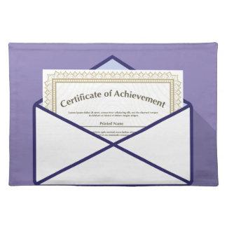 Certificado en vector del sobre manteles