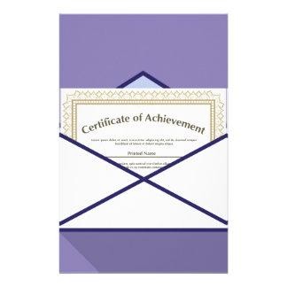 Certificado en vector del sobre papelería de diseño