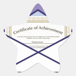 Certificado en vector del sobre pegatina en forma de estrella