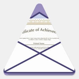 Certificado en vector del sobre pegatina triangular