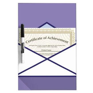 Certificado en vector del sobre pizarras blancas