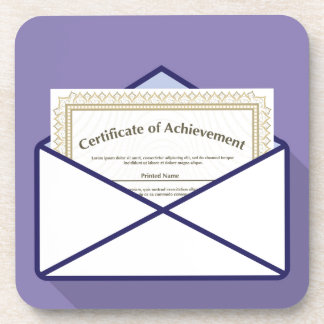 Certificado en vector del sobre posavasos