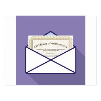 Certificado en vector del sobre postal