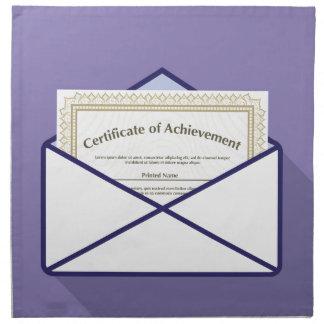 Certificado en vector del sobre servilletas imprimidas