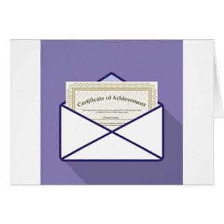 Certificado en vector del sobre tarjeta de felicitación