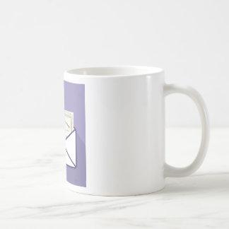 Certificado en vector del sobre taza