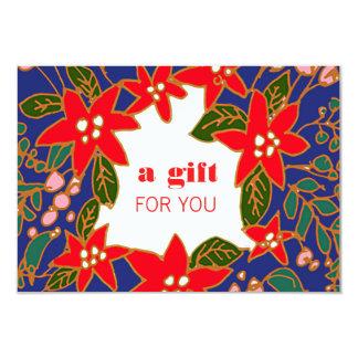 Certificado festivo del regalo de vacaciones del invitación 8,9 x 12,7 cm