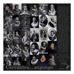 Cervantes,… Supongo - Poster-400 años Don Quijote Póster