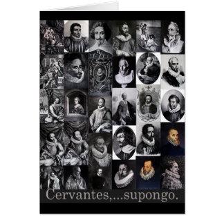 Cervantes,… supongo tarjetón