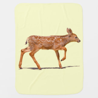 Cervatillo de los ciervos del bebé que camina - mantitas para bebé