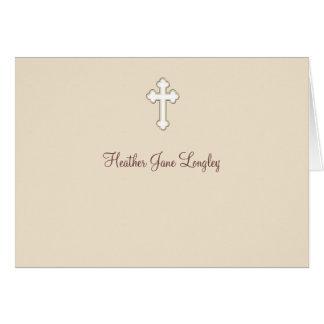 Cervatillo - religiosos personalizada le agradecen tarjeta pequeña