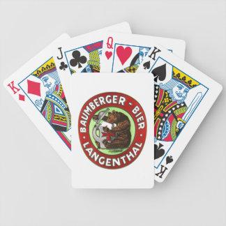 Cervecería Baumberger Langenthal juego de naipes