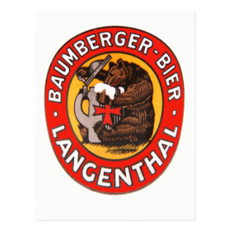 Cervecería Baumberger Langenthal tarjeta postal