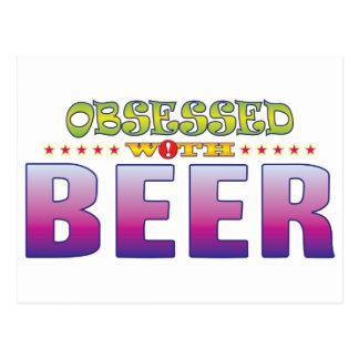 Cerveza 2 obsesionada postal