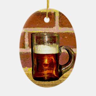 Cerveza Adorno Ovalado De Cerámica