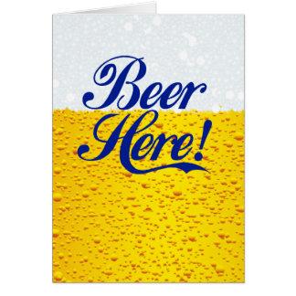 ¡Cerveza aquí! Tarjetón